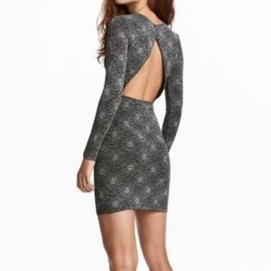 NWT Backless Sparkly Long Sleeve Dress